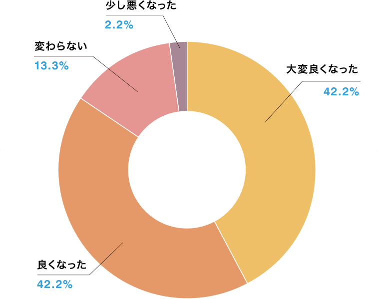 変化の段階グラフ